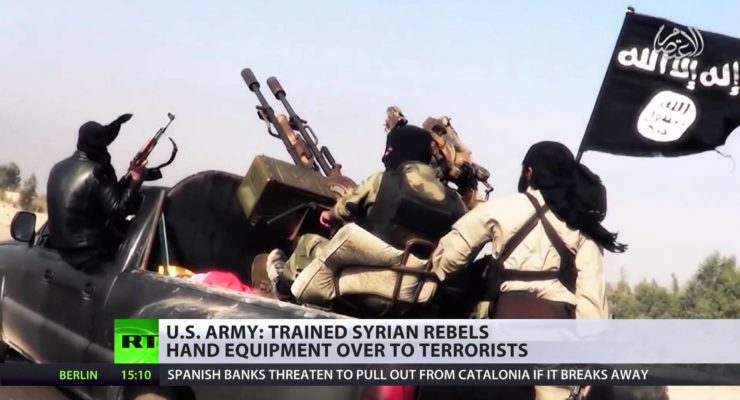 US-trained Syria rebels gave weapons to al-Qaeda Pentagon confirms
