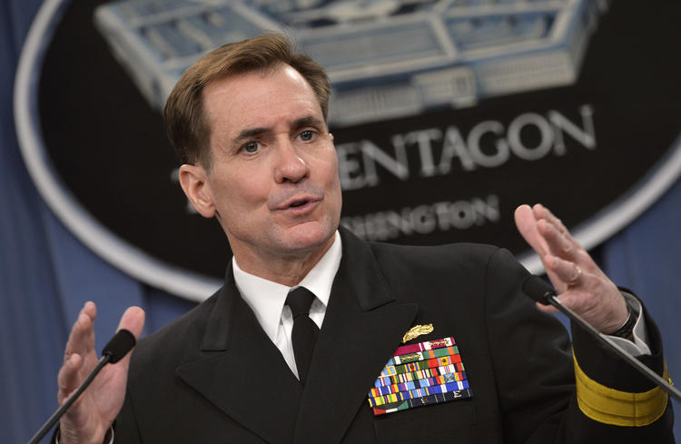 "Pentagon Channel as Pentagon Press Secretary Navy Rear Adm. John Kirby briefs reporters in the Pentagon Press Briefing Room March 27, 2014.  DoD Photo by Glenn Fawcett (Released)[/caption] <i/>h/t DoD, Wikipedia</p> <p>Spokesman for the US State Department John Kirby said during a press briefing that the US was ""deeply concerned"" about Yaalon's move, which ""effectively creates a new settlement on 10 acres"" of occupied West Bank land.</p> <p>""Along with the regular retroactive legalization of unauthorized outposts and construction of infrastructure in remote settlements, actions such as this decision clearly undermine the possibility of a two-state solution,"" Kirby said.</p> <p>Kirby reiterated that the US views settlement activity as ""illegitimate and counterproductive to the cause of peace.&#8221;</p> <p>""Continued settlement activity and expansion raises honest questions about Israel's long-term intentions and will only make achieving a two-state solution that much more difficult,"" Kirby continued.</p> <p>The church compound, known as Beit al-Baraka, is situated on 38-dunams (9.3 acres) of Palestinian land in the Hebron district.</p> <p>The compound's incorporation into Gush Etzion enables the construction of a continuous line of settlements from the Gush Etzion settlement bloc south of Jerusalem to a cluster of settlements around Hebron.</p> <p>An investigative report by Israeli daily Haaretz in May alleged that American millionaire Irving Moskowitz purchased Beit al-Baraka through a Swedish company years prior with the intention of turning it into a settlement outpost.</p> <p>A pastor who headed the church that previously owned the compound thought it had been sold to a Swedish company, Scandinavian Seamen Holy Land Enterprises, that would revive its use as a church.</p> <p>It was later revealed that the company had been established in 2007 and used to cover up the sale and transfer of Beit al-Baraka.</p> <p>The Swedish company registered the purchase with the Israeli Civil Administration in 2012 before handing over ownership to an American nonprofit organization that is funded by Moskowitz and works towards the eventual &#8220;Judaization&#8221; of occupied East Jerusalem.</p> <p>The takeover brought ongoing demonstrations in front of the compound by local Palestinians, often with Palestinian political and religious leaders in attendance.</p> <p>There are more than 500,000 Israelis living in illegal settlements across occupied East Jerusalem and the West Bank, making an independent and contiguous Palestinian state impossible.</p> <p>While US leadership has repeatedly condemned Israeli settlement expansion, such condemnations have historically done little to curb their growth.</p> <p>Via </a><a href="