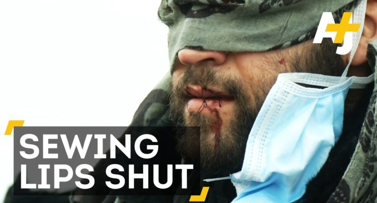 Refugees Sew Lips As Calais Jungle is Demolished (AJ+)