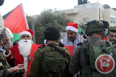Israeli forces suppress Christmas march in Bethlehem