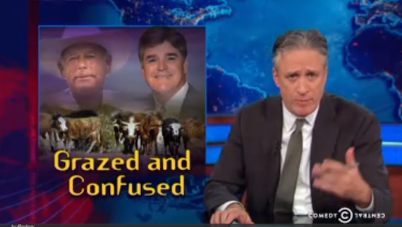 "Jon Stewart v. Hannity on Bundy & Law Enforcement: ""Proportionality"""
