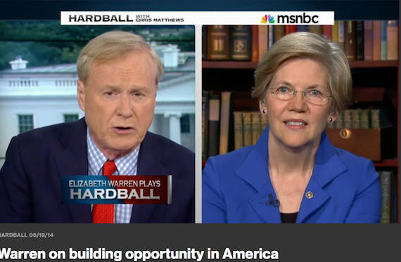 Elizabeth Warren Crushes Chris Matthews, And A Word On Cement