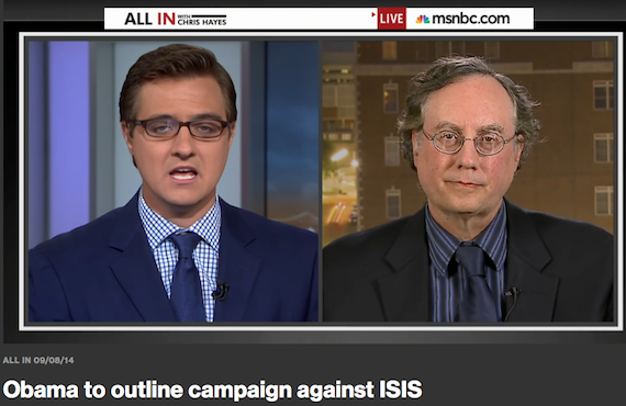 """Obama to outline campaign against ISIS"" (Juan Cole at Chris Hayes, ""All In"")"