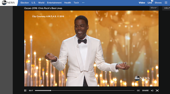 Oscars:  Chris Rock on lack of Diversity in Hollywood