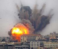 Israeli Bombers Hit Christian Areas