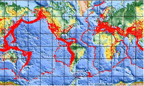 Global Earthquake Zones Western Half Of Africa Looks Safe