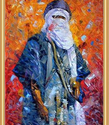 """Algerian Tuareg"" (Painting by Youcef Ben Mahammed)"