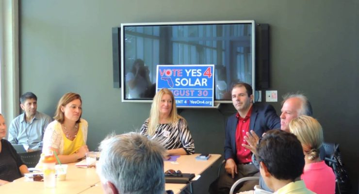 Florida:  Politicians in Big Oil's Pocket Beware, The People want their Solar
