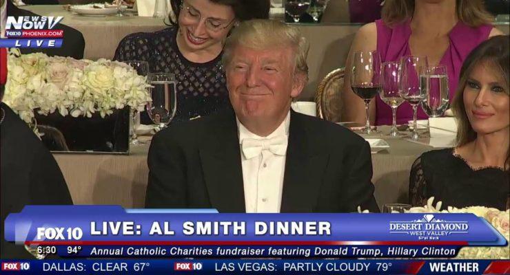 Hillary Clinton Roasts Donald Trump At 2016 Al Smith Dinner