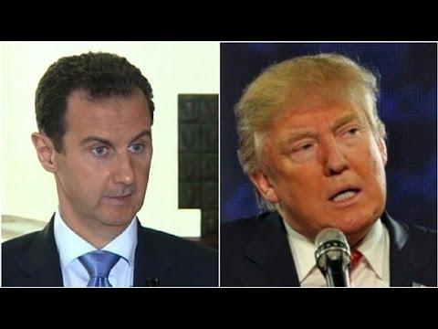 """Syria's al-Assad:  Trump """"a natural ally"""""""