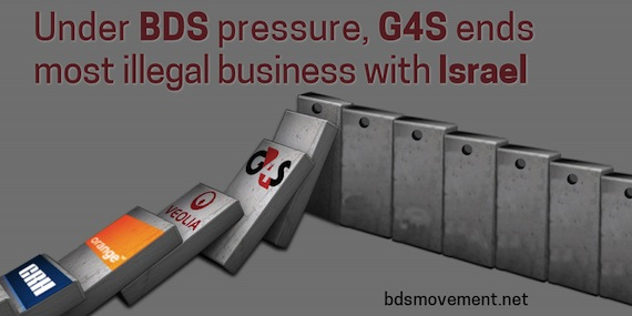 Under BDS Pressure, G4S Ends Most Illegal Business with Israel