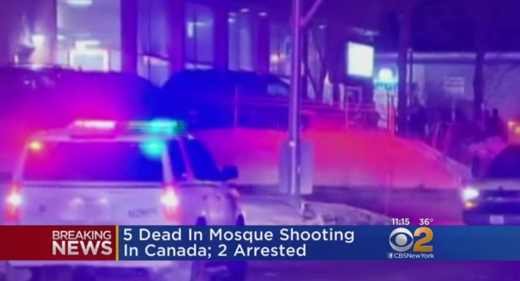 Demonizing Muslims:  White Quebec Terrorists kill 6 in attack on Mosque