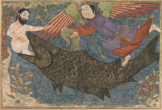 "Image of the Day:  ""Jonah and the Whale"" (Persian Miniature)"