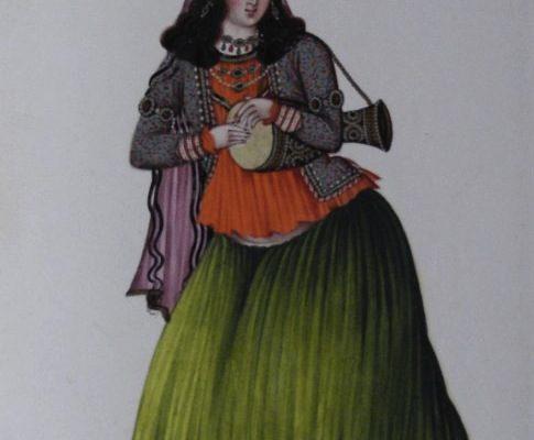 Iranian Drummer Woman, 1842