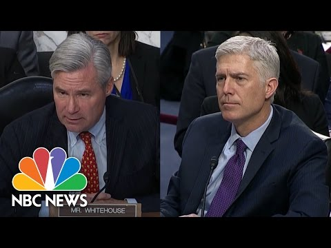 Gorsuch Refuses Chance to Condemn 'Dark Money' Lobbying on His Behalf