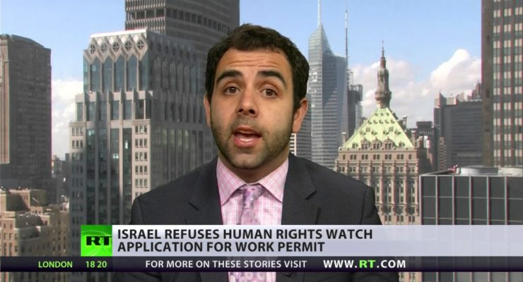 Joining N. Korea, Israel denies Human Rights Watch Work Permit