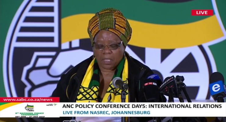 S. Africa ruling party will downgrade ties with Israel over Illegal Occupation