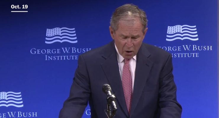 George W. Bush & GOP lack standing to bash Trump for Racism