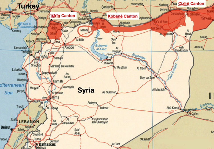 Syria Turkey Begins Military Operation Against USAllied Kurds In - Map of syria and turkey