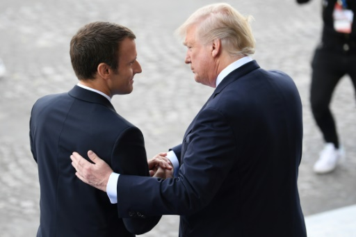 "Macron on way to see Trump: ""There is no 'Plan B' re: Iran Nuclear Deal"""