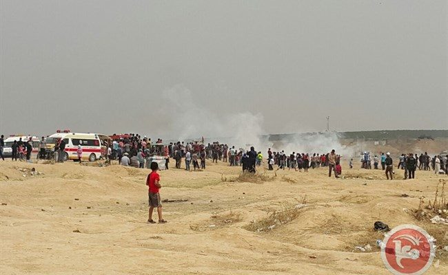 Israeli Forces injure 40 Palestinians on 6th Friday of Gaza protests