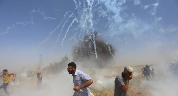 Jerusalem Day: Israeli Soldiers  Harm 525 Palestinians at Gaza Rally