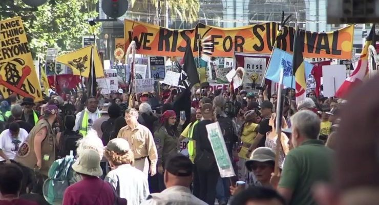 Masses around Globe Rally against Climate Crisis & Gov't Inaction, Defying Trump