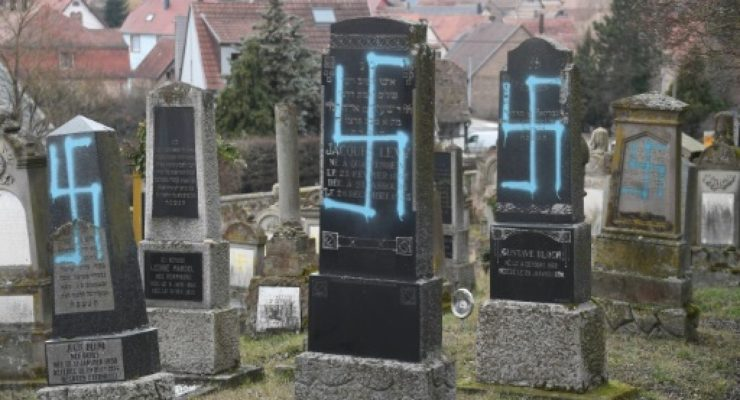 French Neo-Nazis Desecrate Jewish Cemetery with Swastikas in Alsace