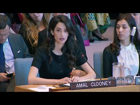 Why did the Trump Admin. Obstruct UN Resolution against War Rape that Amal Clooney Supported?