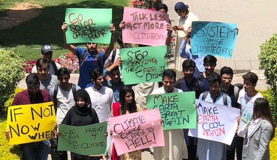 "Pakistani Students, Activists are marching to combat Climate Crisis: ""Can't be Ignored"""