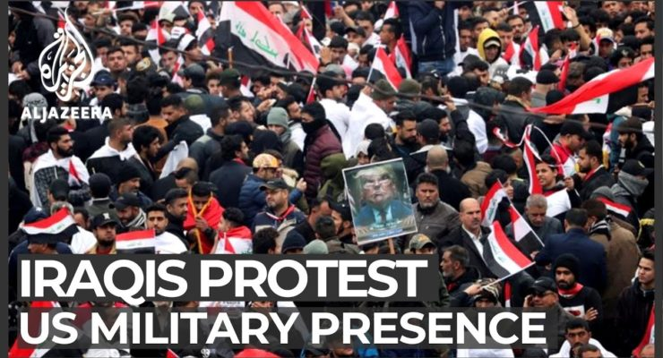 Tens of Thousands of Iraqis mass in Baghdad to Demand Expulsion of US Troops, Hang Trump in Effigy