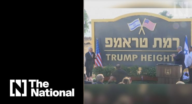"""Trump Heights"": Illegal New Israeli Squatter Settlement on Occupied Syrian Golan Approved"