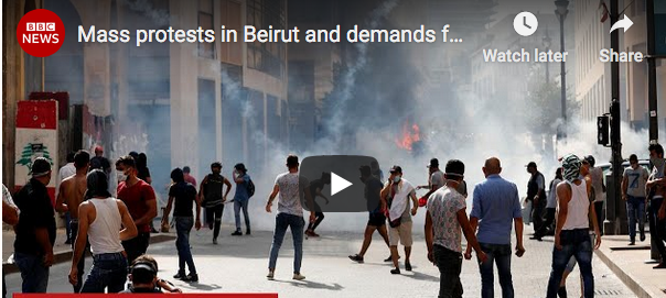 Beirut: 'Day of Judgment' Protesters Occupy Gov't Buildings, Banking Assn., Forcing New Elections