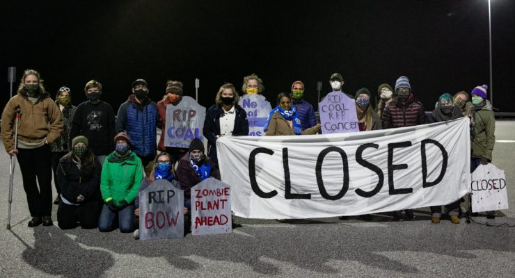 Climate activists mount utility strike to urge the shutdown of New England coal plant