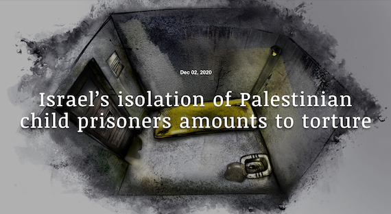 Israel's isolation of Palestinian Child Detainees amounts to Torture:  Defence for Children In'tl