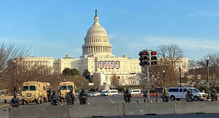 The Mall was 1/2 empty for Trump's Inauguration, but the threat of his armed Militias Completely Emptied it for Biden's