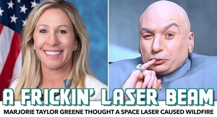 The Republican Party's Iran-Level Superstitious Anti-Semitism: Greene claimed Jewish Space Laser started Cali Wildfires