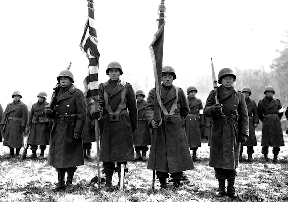 Japanese American soldiers in World War II fought the Axis for the U.S. abroad and racial prejudice back at home