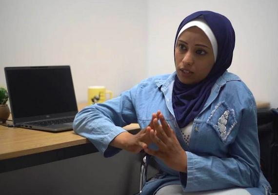 Gaza Disability Rights Defender recounts harrowing Flight from Israeli Airstrikes at U.N.