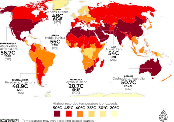 Kuwait is the Hottest Place on Earth; Lytton, Canada was Right Behind it, and then it Burned Down; This is not Normal