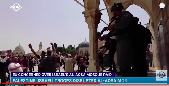 """Palestinian-Israeli Party in Gov't Warns of """"Religious War"""" over Violent Squatter Invasion of al-Aqsa Mosque Complex"""