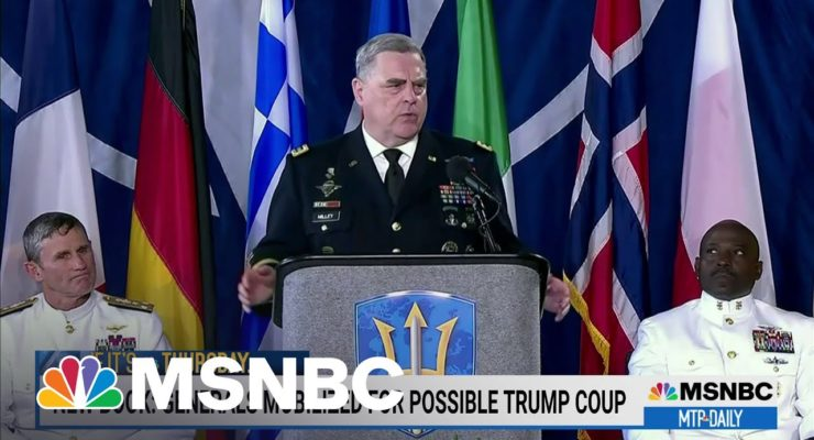 Shaken by Trump's 'Fuhrer Moment,' Gen. Milley had to Blockade Washington, D.C., on Inauguration Day 'to Keep the Nazis out'