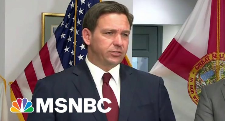 """Demented DeSantis denounces """"Hysteria"""" over Florida Hospitals Filling up with Covid-19 Victims, rejects Masks, Vaccine Mandates"""